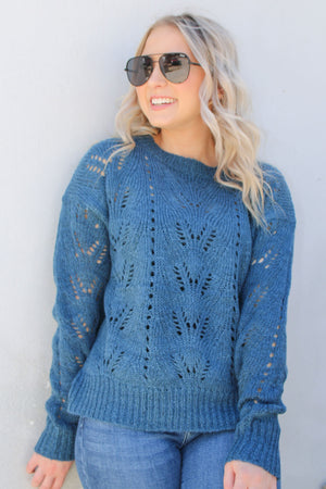 Enchanted Teal Sweater