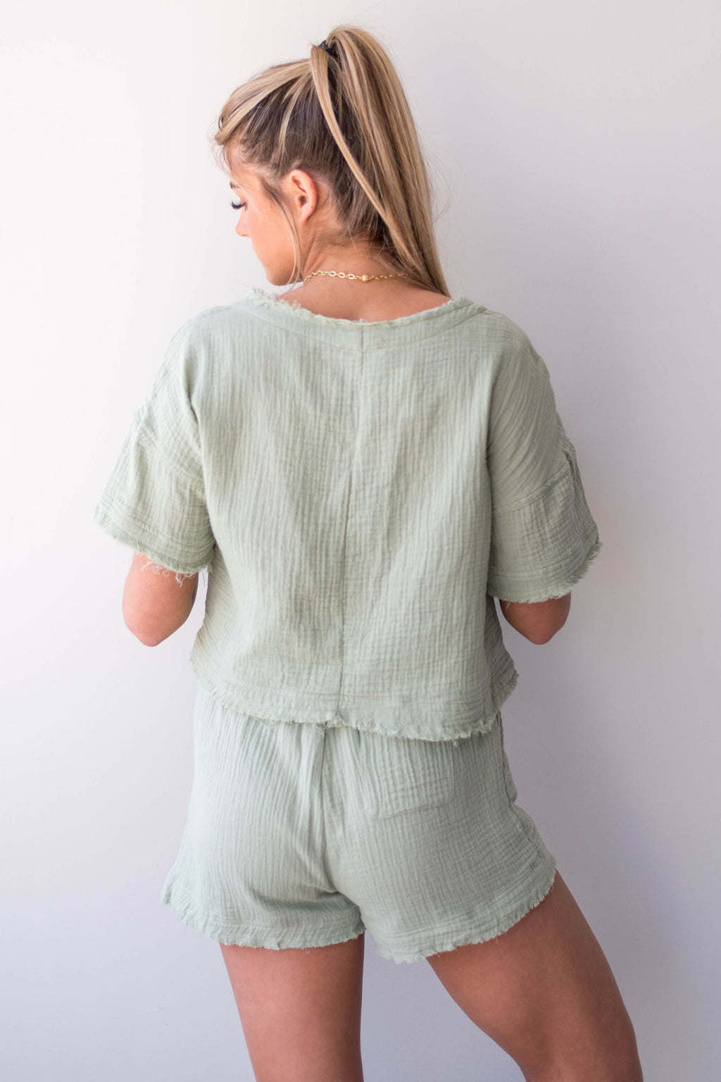 Mint to Be Shorts Set