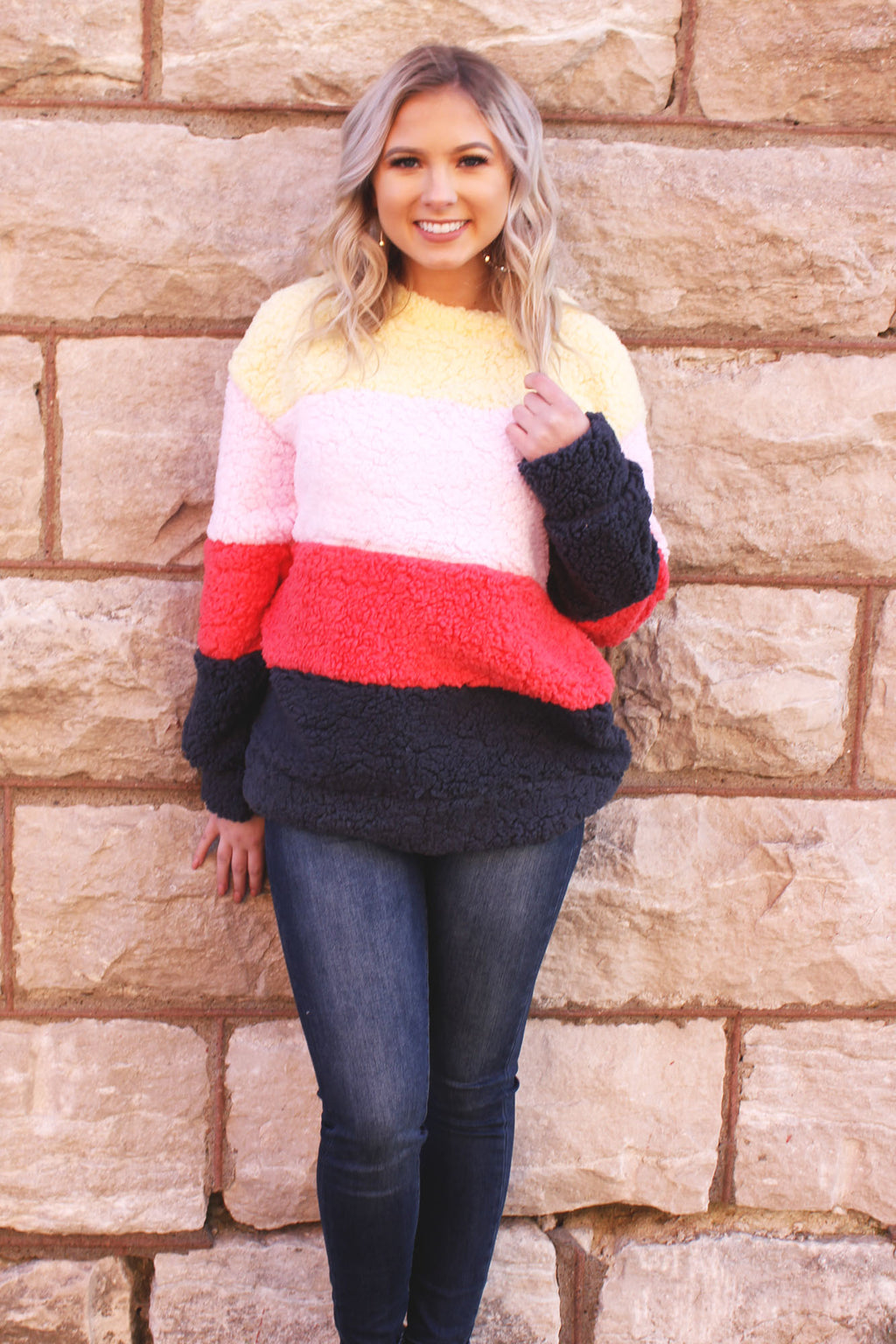 Snow Blizzard Pullover - Yellow Kiss Boutique