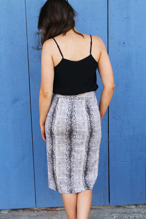 Sneaky Snake Skirt - Yellow Kiss Boutique
