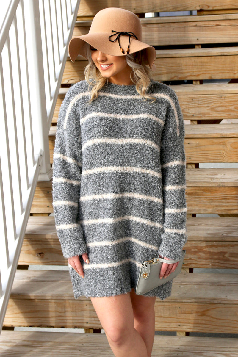 Fun Walk Sweater Dress - Yellow Kiss Boutique