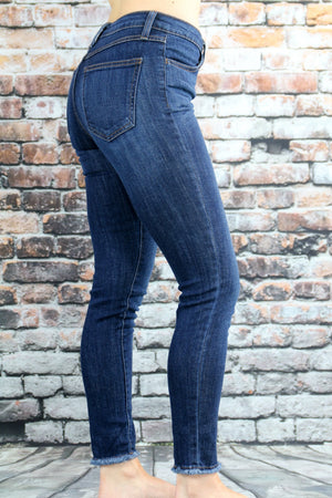 "Frayed Skinnies 27"" - Yellow Kiss Boutique"