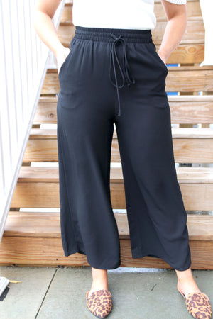 Solid Wide-Leg Pants - Yellow Kiss Boutique