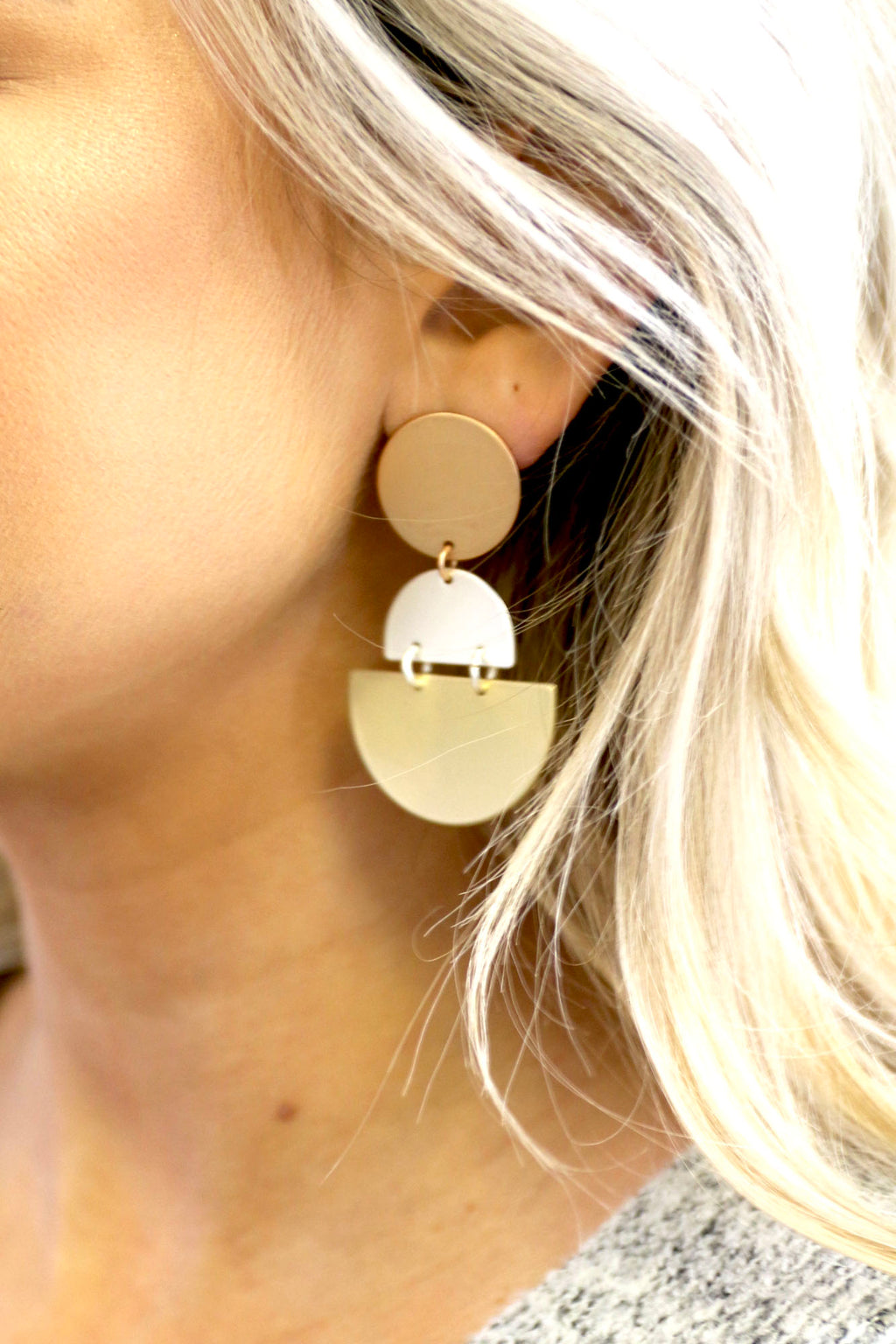 Geometric Drop Earrings- Multi - Yellow Kiss Boutique