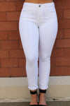 High Rise White Basic Skinny - Yellow Kiss Boutique