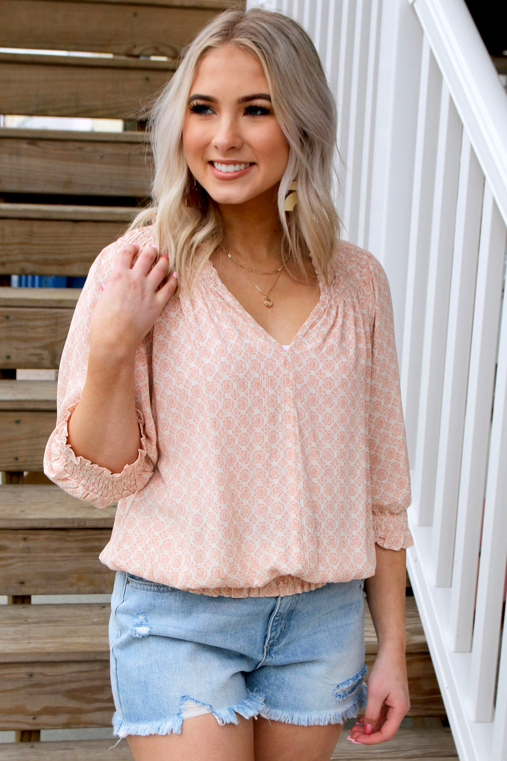 Spring Chic Top - Yellow Kiss Boutique