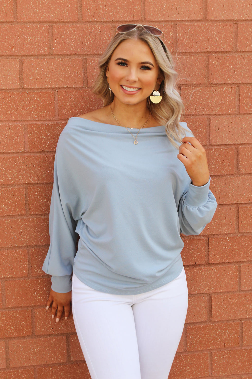 Dolman Sleeve Top - Yellow Kiss Boutique