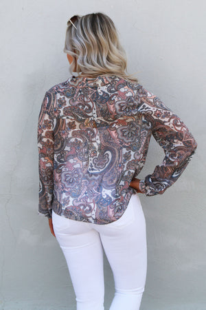 Paisley Top - Yellow Kiss Boutique