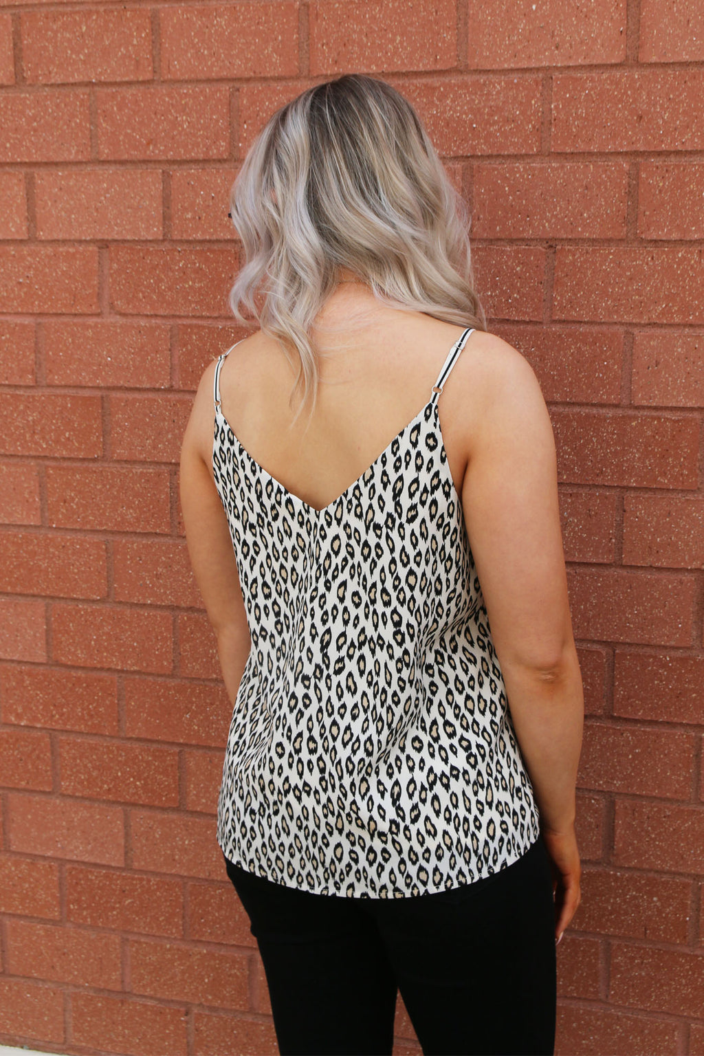 Striped Tank with Leopard Sides - Yellow Kiss Boutique