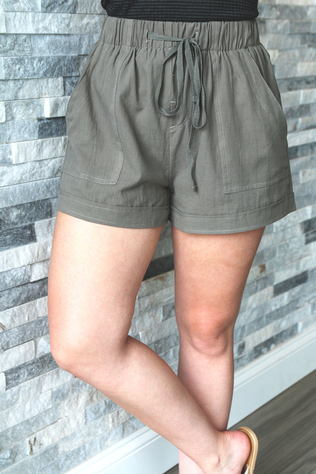 Favorite Olive Shorts