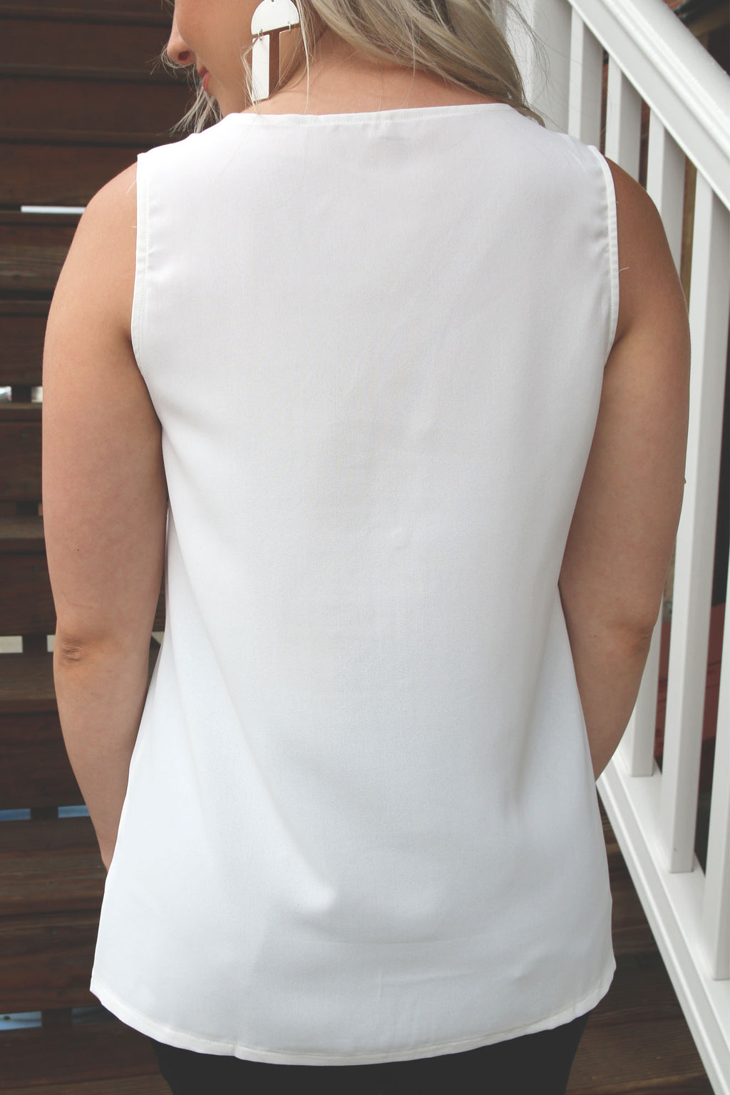 White Tank with Zipper