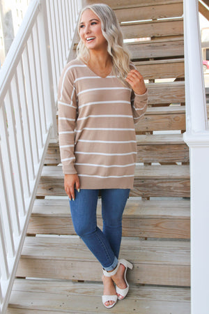 Relax and Chill Sweater- Taupe