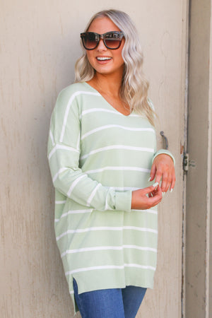 Relax and Chill Sweater- Light Green