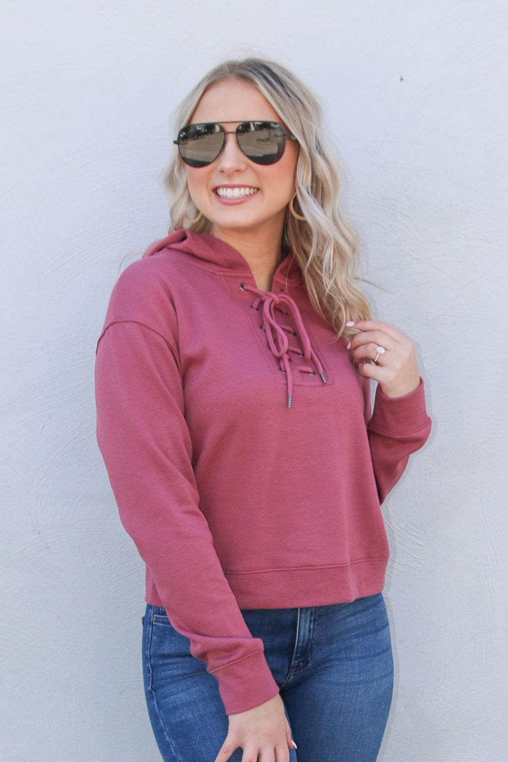 Fireside Hoodie - Cranberry