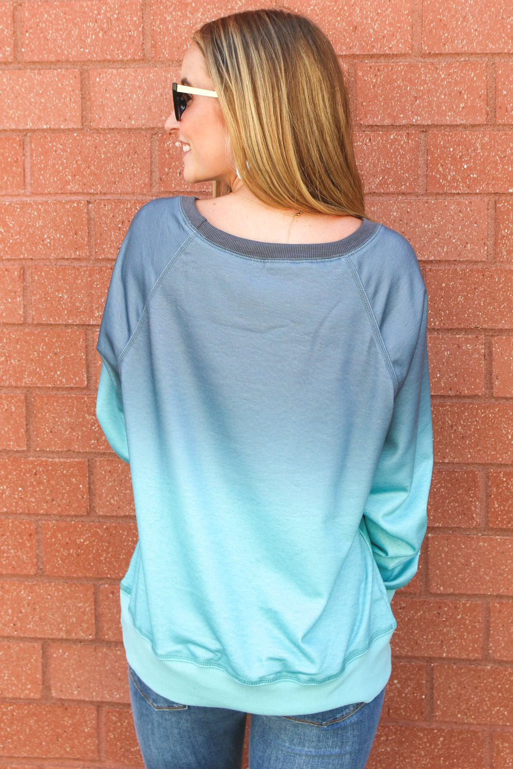 Ocean Breeze Ombré Sweatshirt