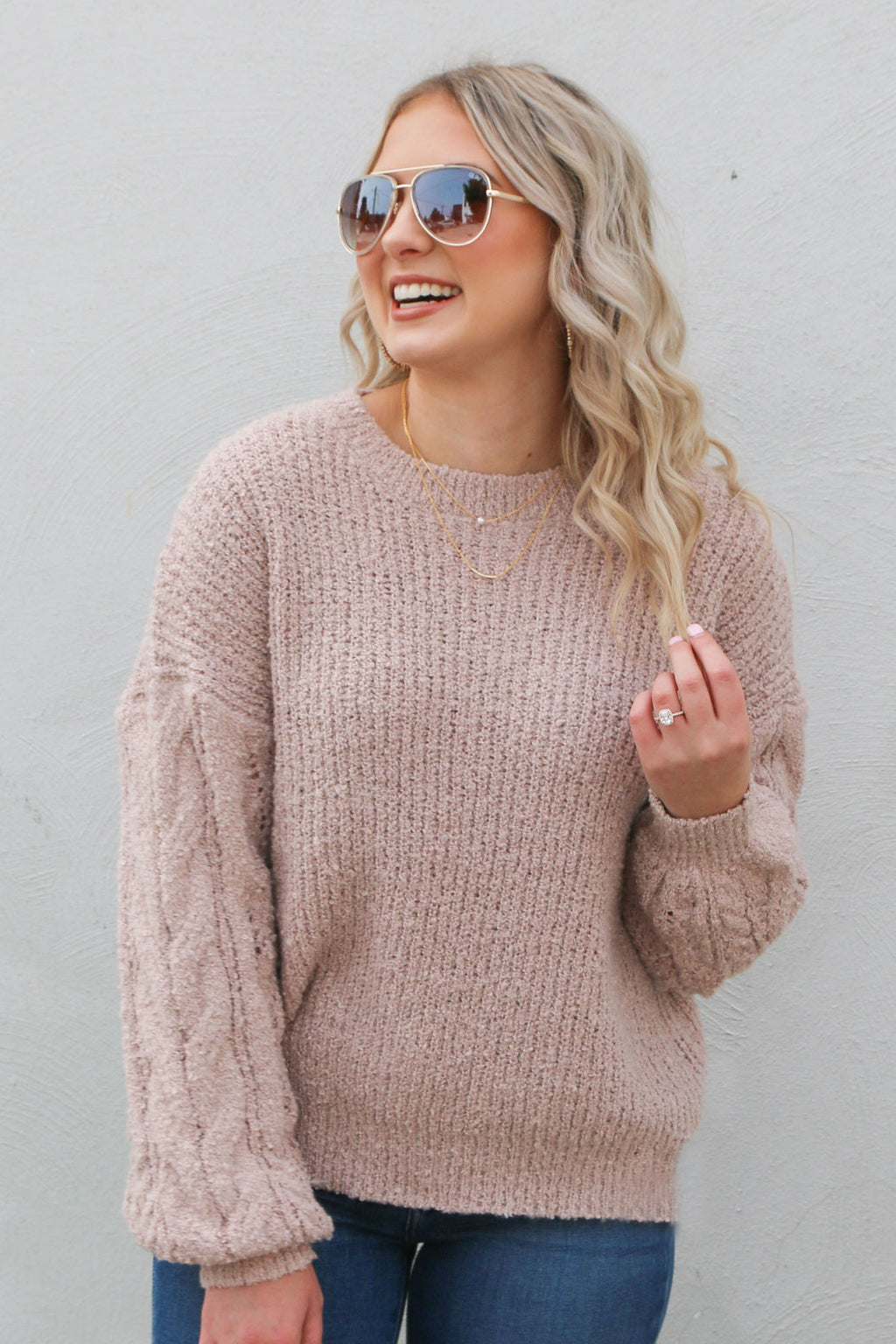 Traveler Sweater- Dusty Pink