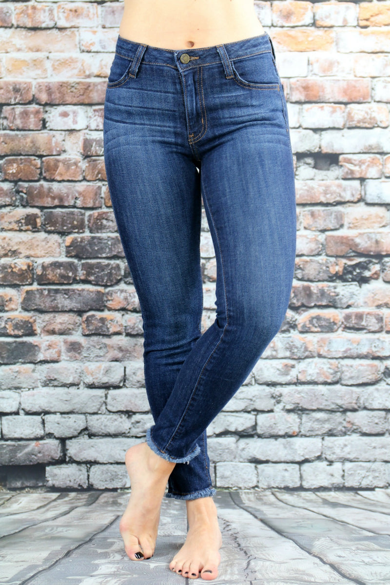 Frayed Skinnies 27""