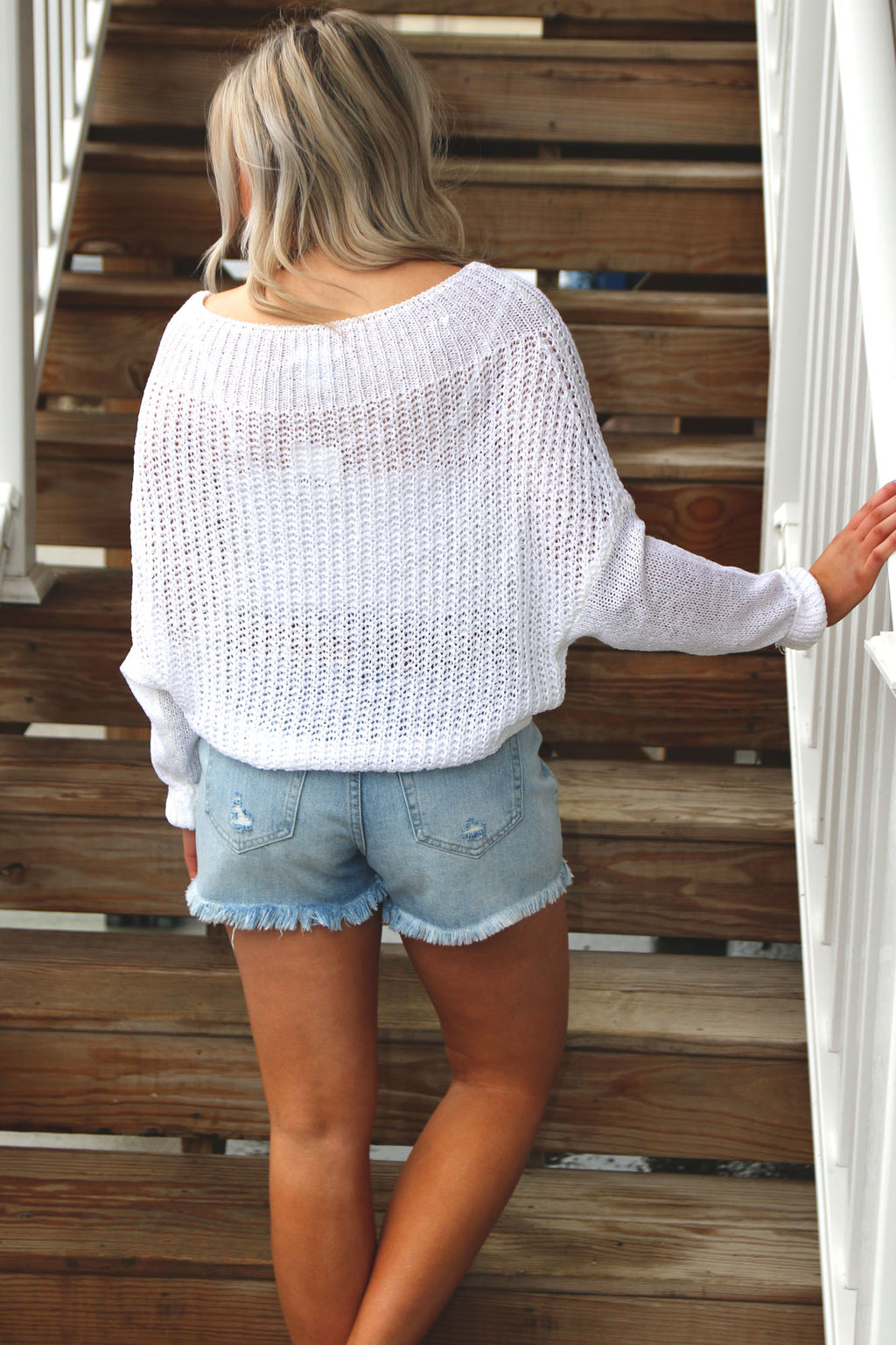 Off Shoulder Long Sleeve Solid Sweater-Off White - Yellow Kiss Boutique