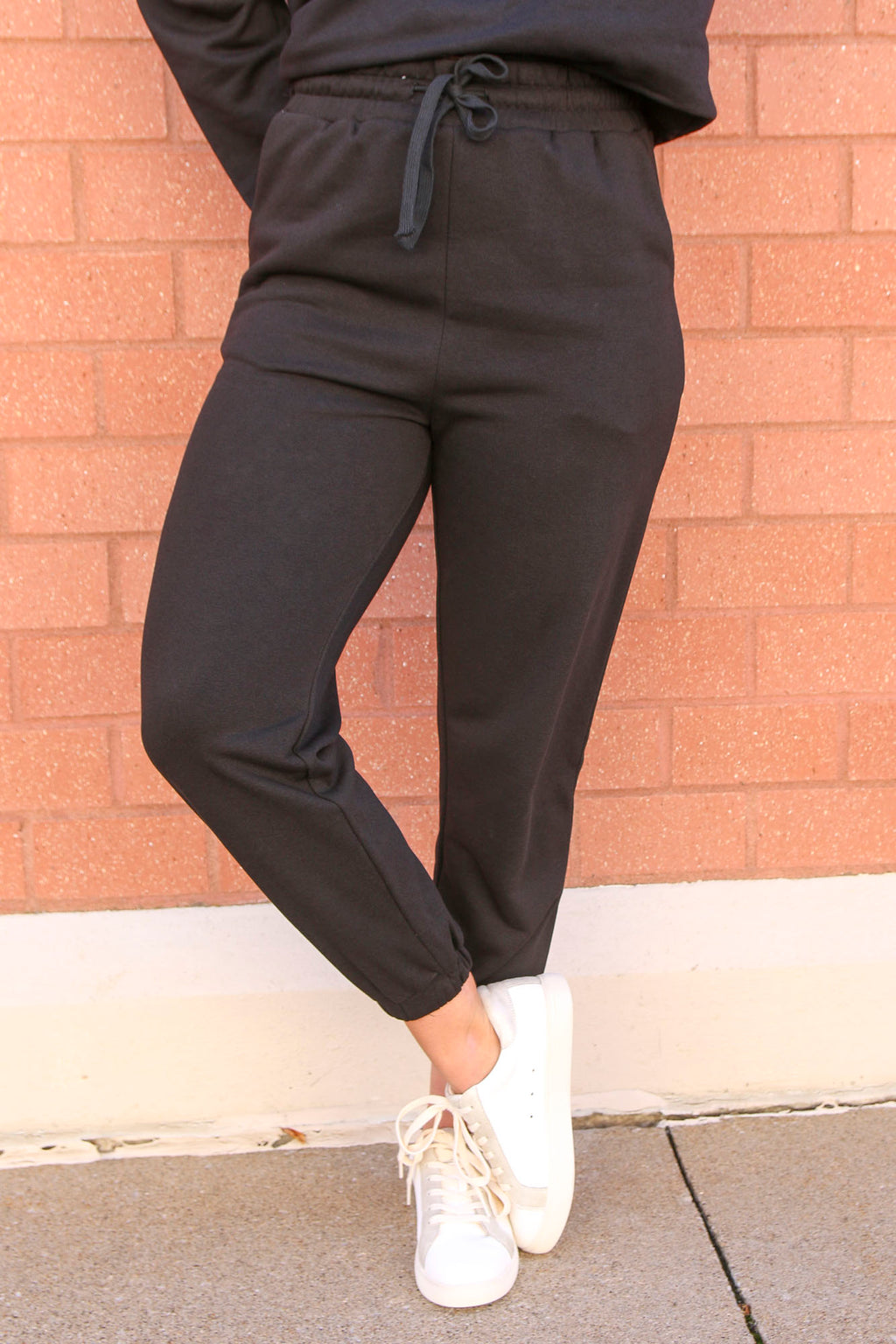 Treat Yourself Black Joggers