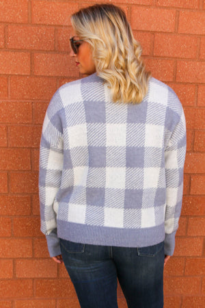 Fireside Feelings Plaid Sweater