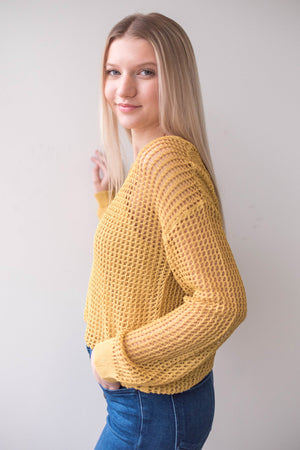 Mustard Knit with Brami