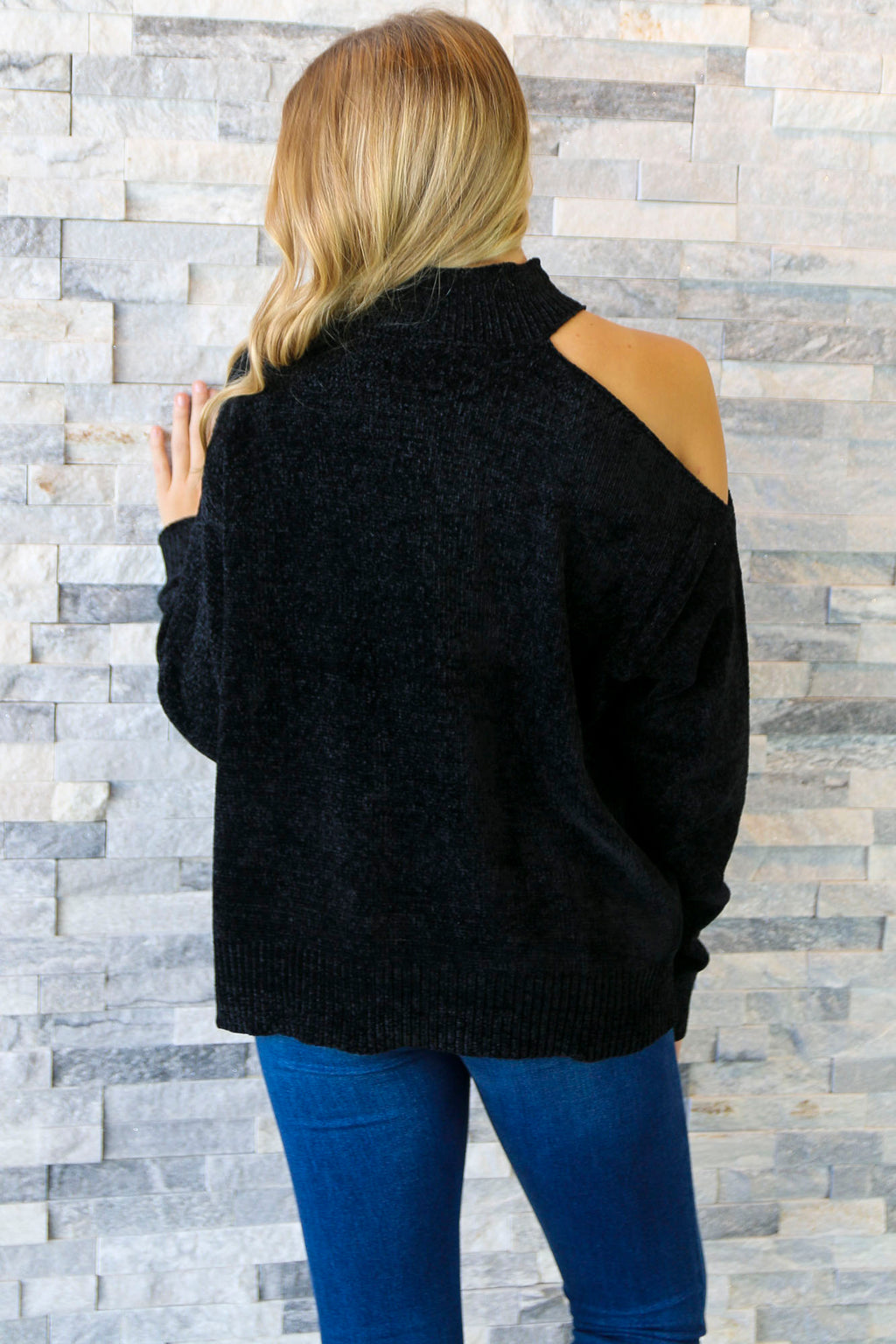 Evening Out - Cold Shoulder Sweater