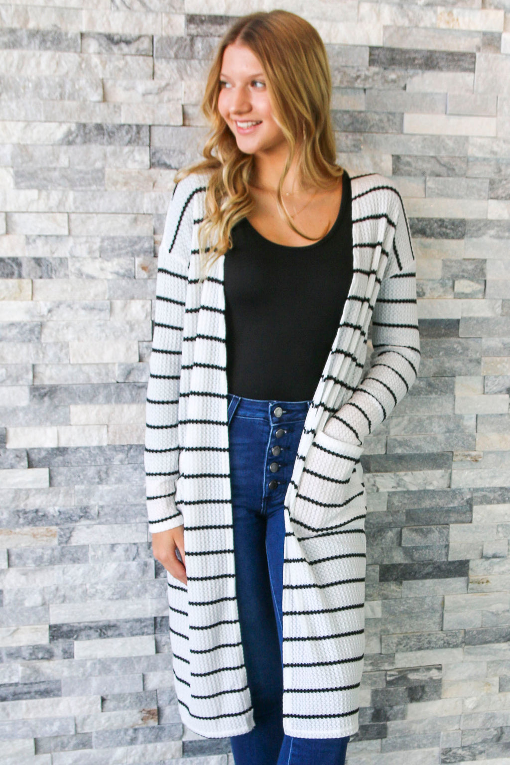 One Special Day Cardigan - White/Black