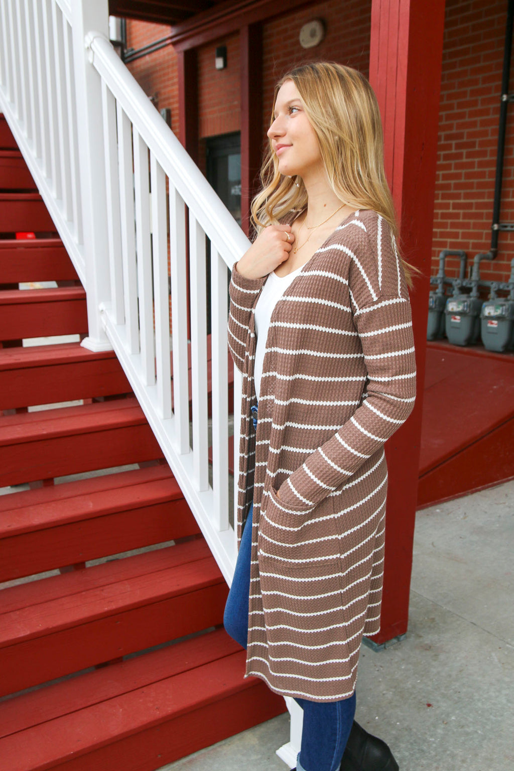 One Special Day Cardigan - Mocha/Ivory