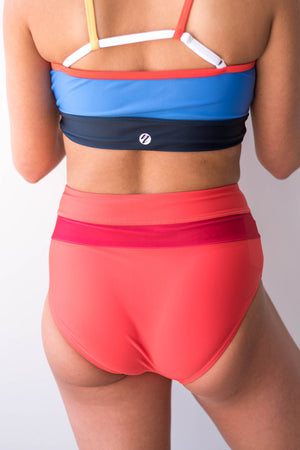 Red Poppy High Rise Colorblock Bottom Nani