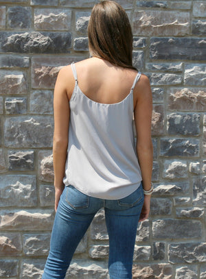 Playtime Tank in Silver Grey - Yellow Kiss Boutique