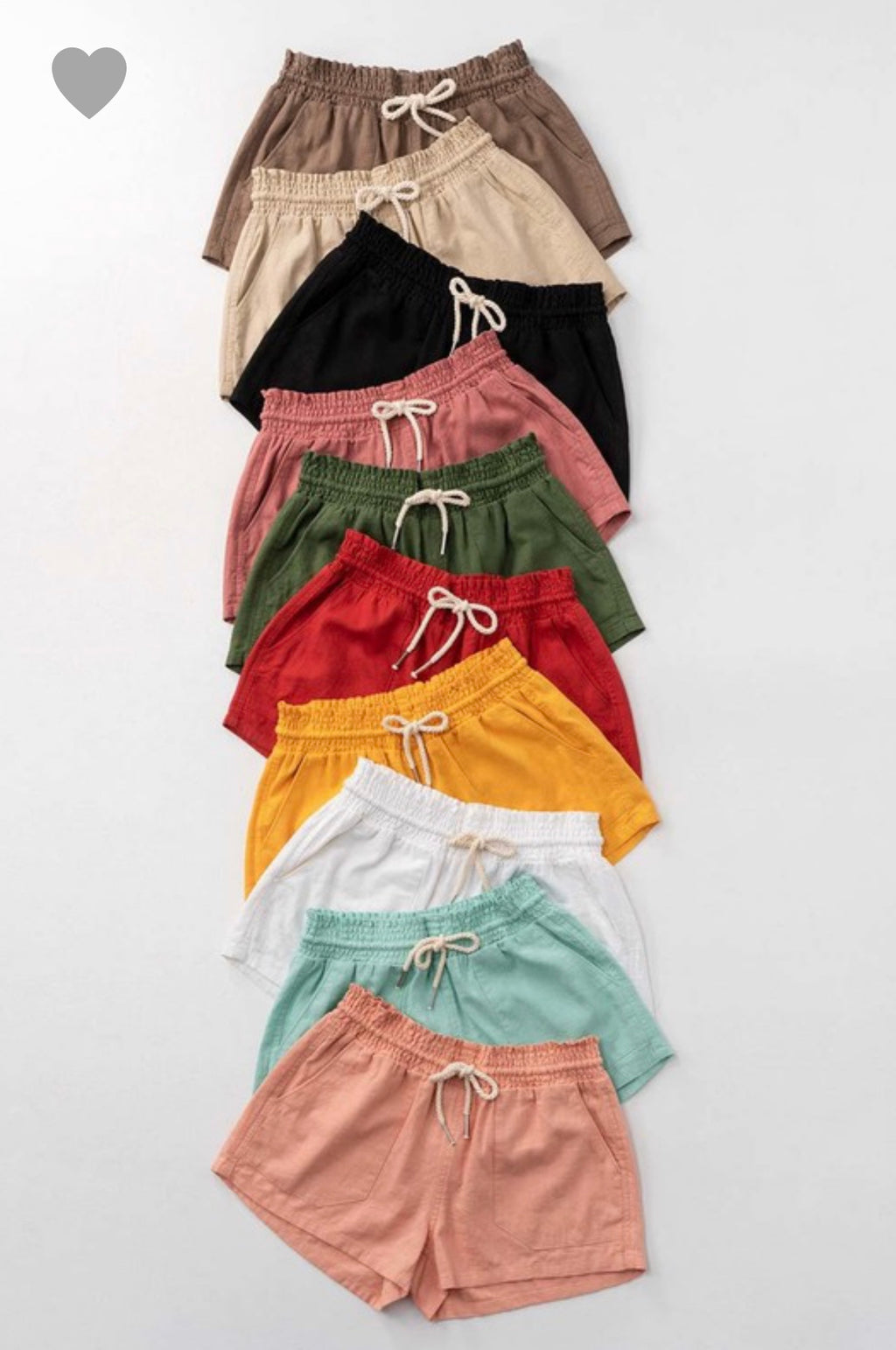 Linen Shorts - Yellow Kiss Boutique
