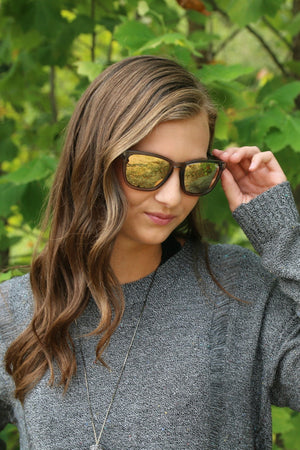 Sunnies - Hardwire - Grey/Peach Mirror