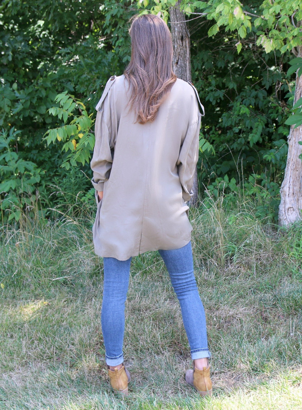 Olive Trench Coat - Yellow Kiss Boutique