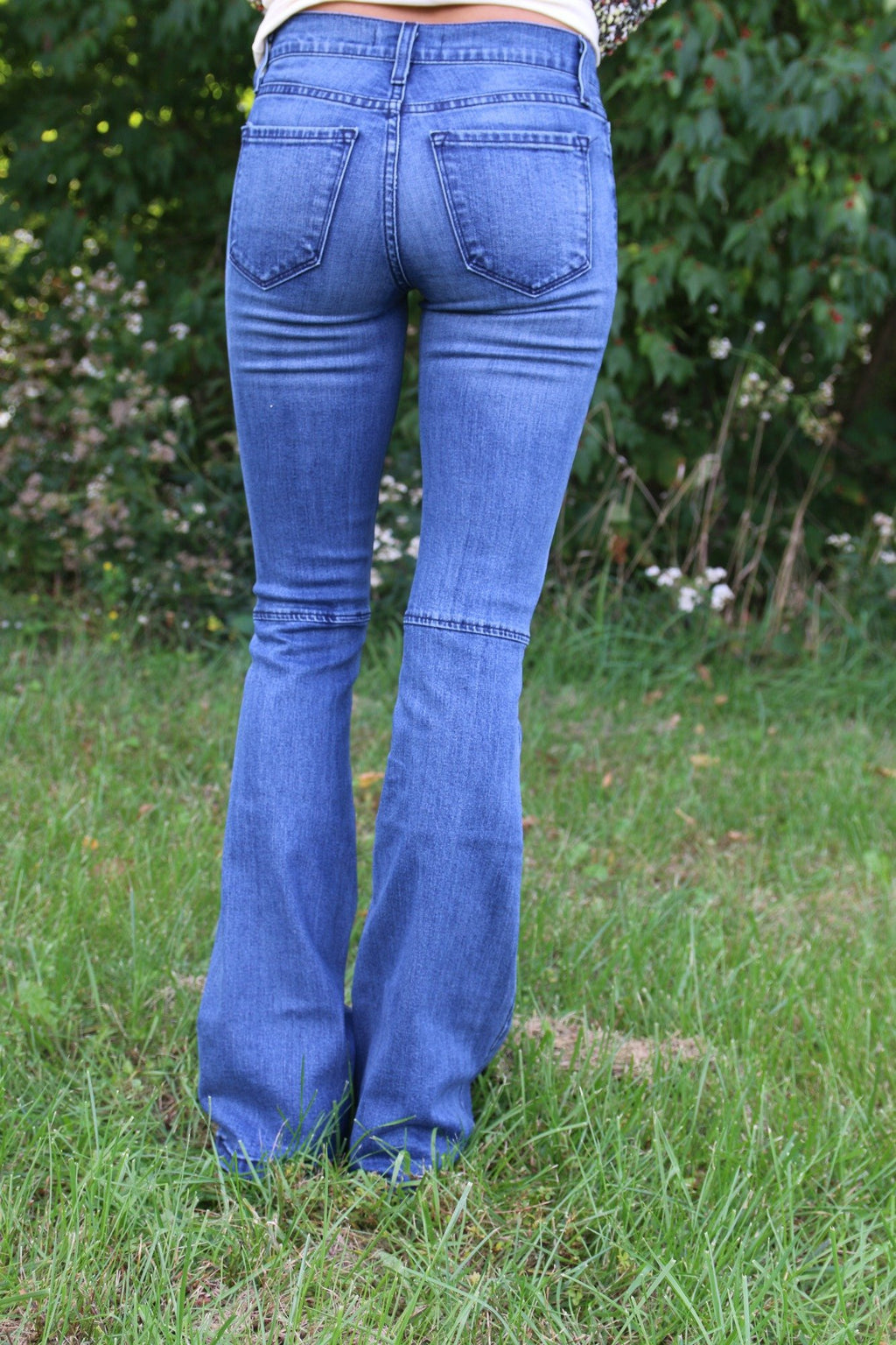 Flared Bell Bottom Jeans - Yellow Kiss Boutique