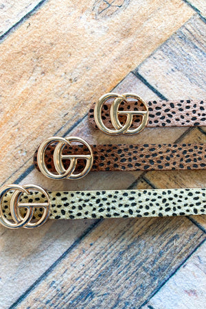 Faux Fur CG Buckle Belt