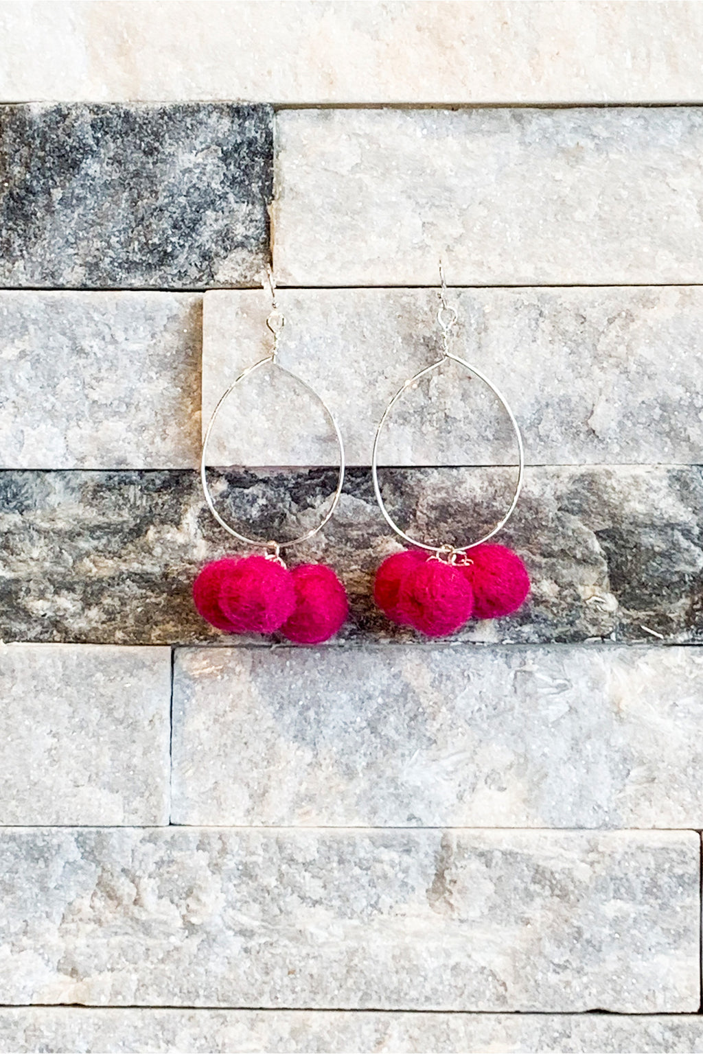 Pom-Pom Earrings - Yellow Kiss Boutique