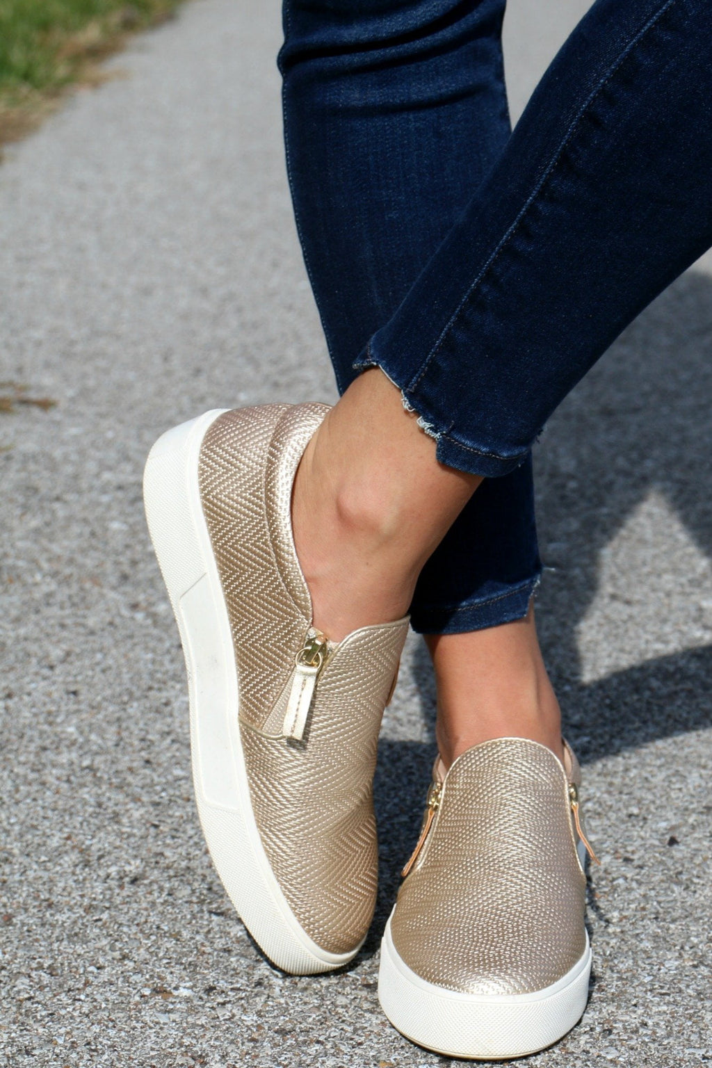 Champagne Slip-on - Yellow Kiss Boutique