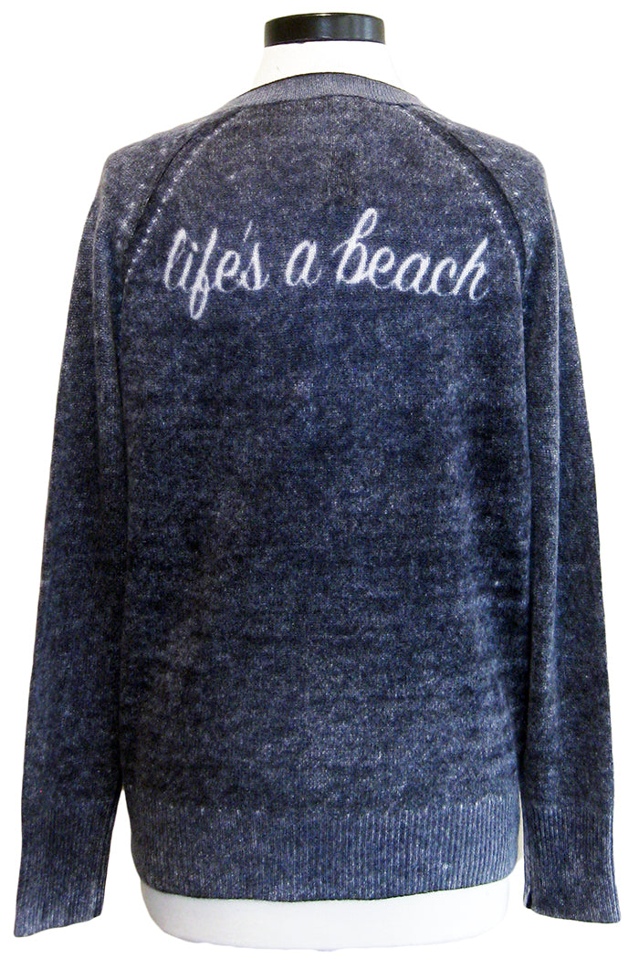 360sweater life's a beach navy