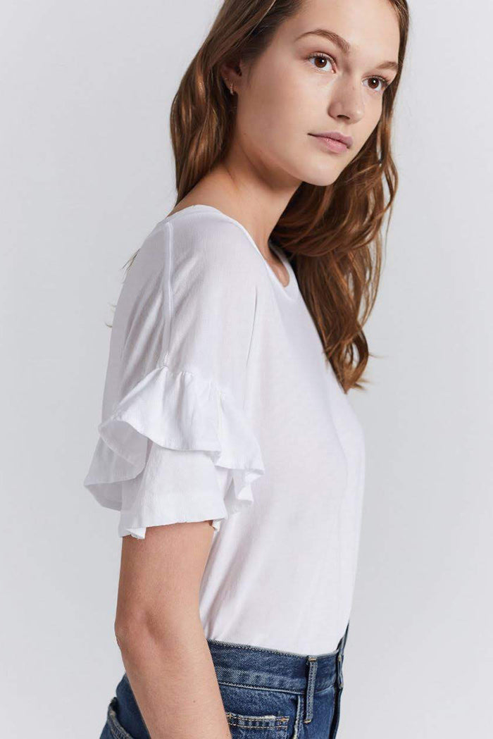 current/elliott the ruffle roadie tee