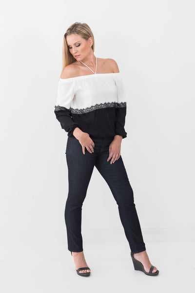 roi off shoulder blouse