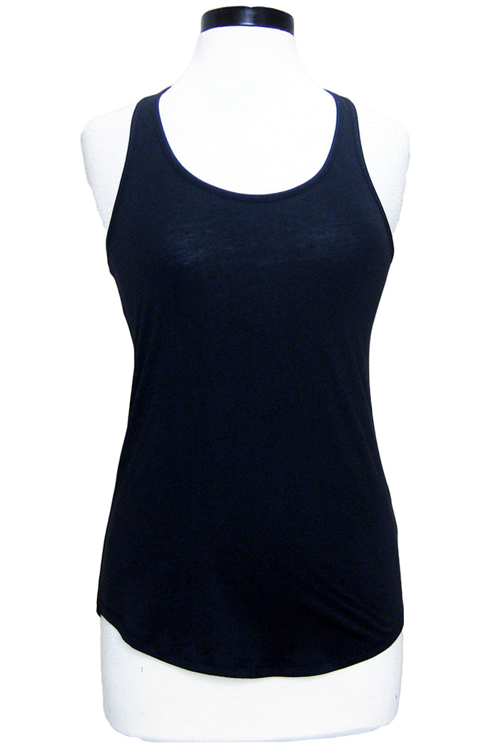 alternative shirttail tank black