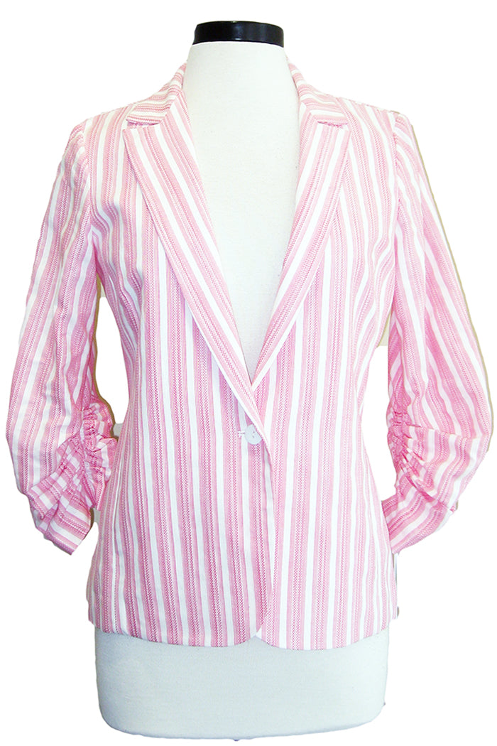 amanda uprichard chesterfield blazer stripe