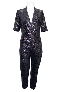 amanda uprichard sequin catsuit copper
