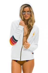 aviator nation bolt stitch stripe hoodie