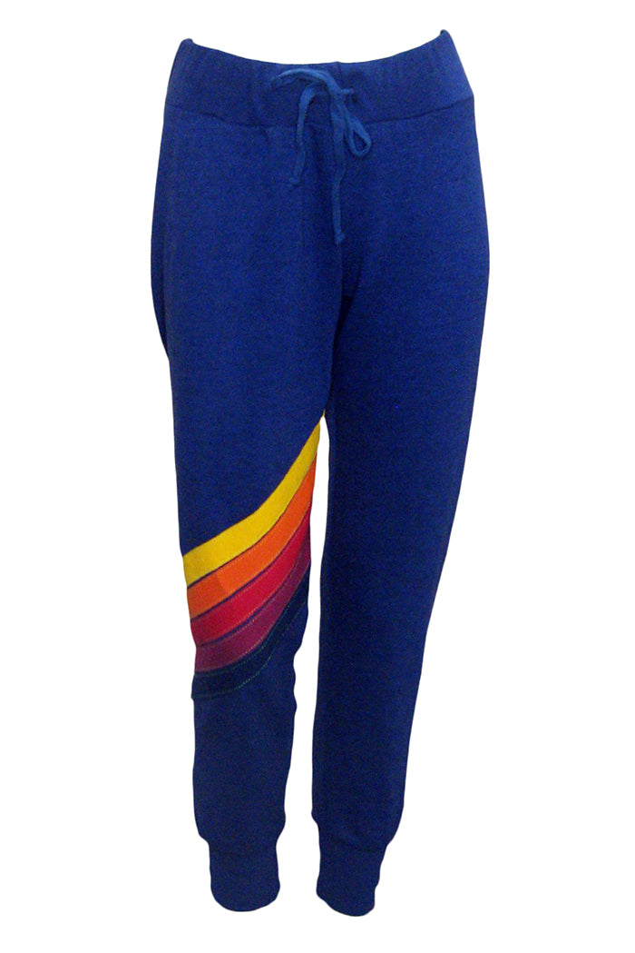 aviator nation cross stripe sweatpants poseidon