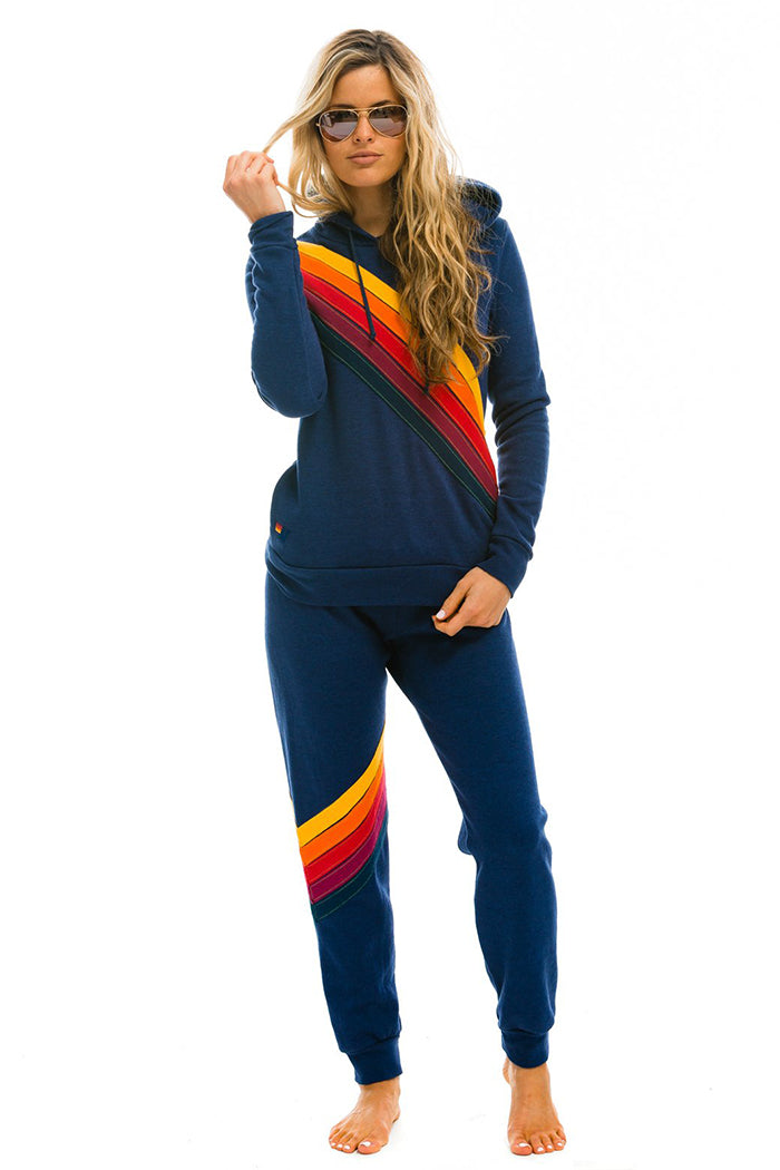 aviator nation cross stripe sweatpants