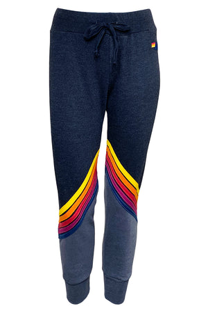 aviator nation glider stripe sweatpants black vintage charcoal