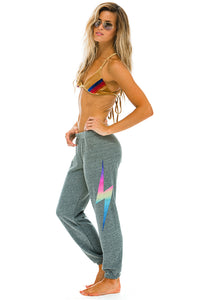 aviator nation bolt sweatpants heather rainbow pink
