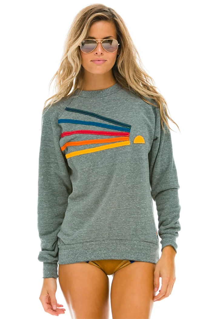 aviator nation daydream sweatshirt heather grey