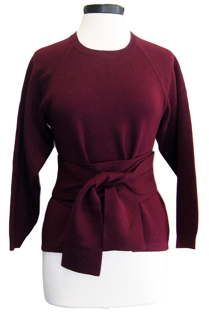 ba&sh hanna sweater burgundy